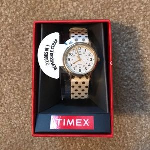 Timex polka dot watch